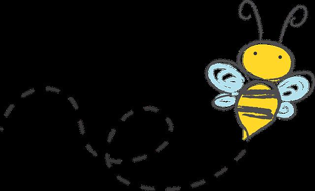 ハチが飛んでいる画像