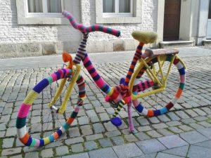 装飾された自転車画像