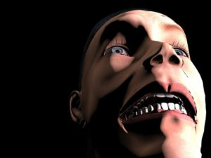 ショックを受けた男性の顔画像