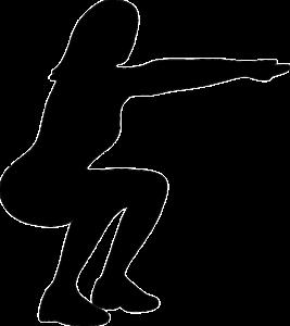 スクワットをしている女性のイメージ画像