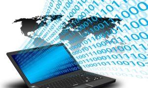 ノートパソコンによるデータ通信